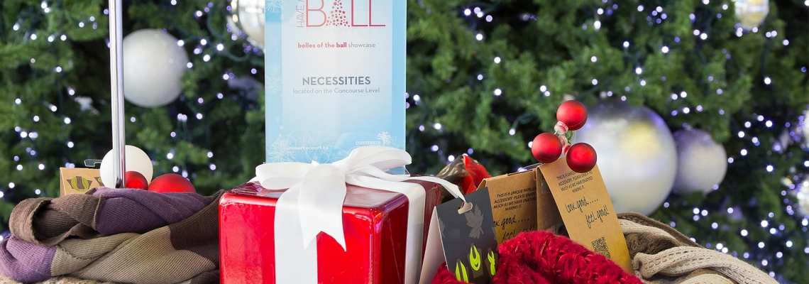 Have a ball this season shopping at Commerce Court!