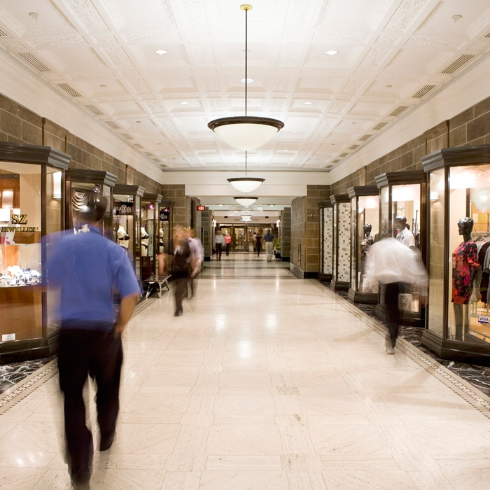 shopping area in commerce court