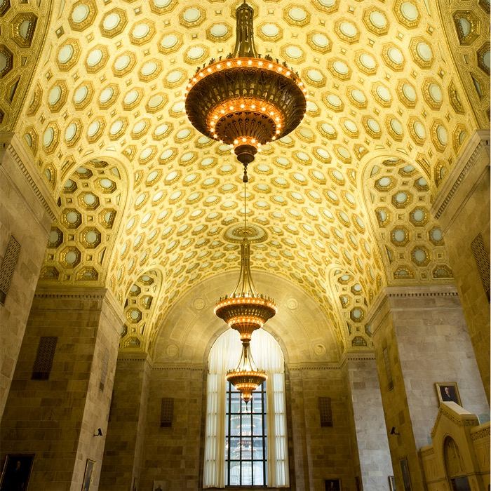 lobby ceiling of commerce court