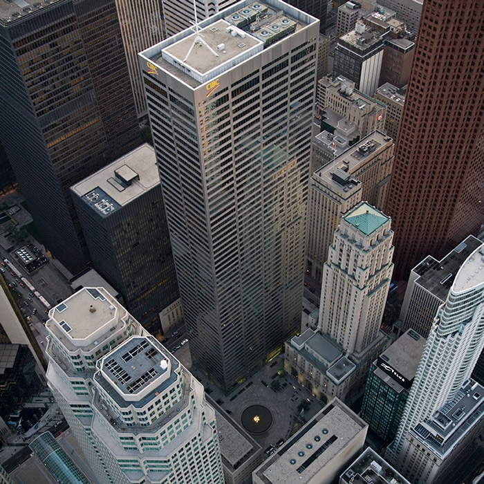 aerial view of commerce court