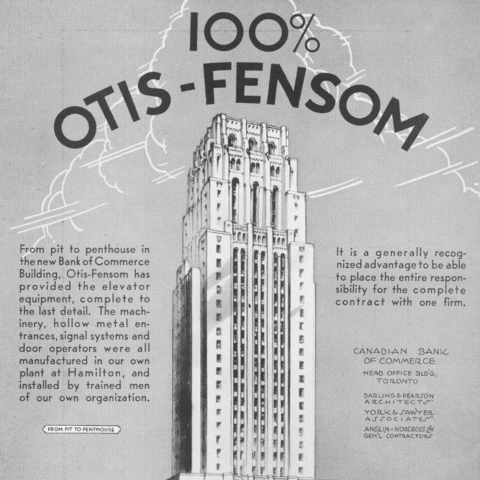 historical photo advertising elevator company