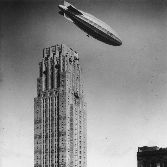 blimp over commerce court